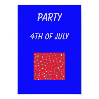 Party 4th of July>invitation 13 Cm X 18 Cm Invitation Card