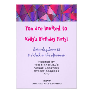Party! Abstract Triangle Design 13 Cm X 18 Cm Invitation Card