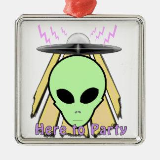 Party Ailen Metal Ornament