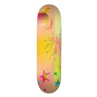 party and colors 21.6 cm skateboard deck