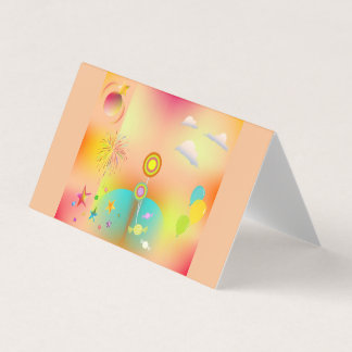 party and colors card