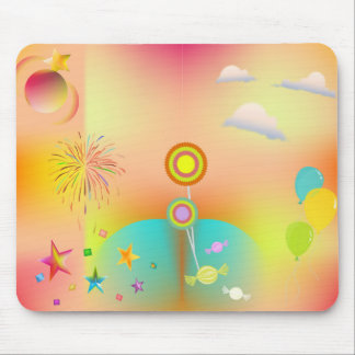 party and colors mouse pad