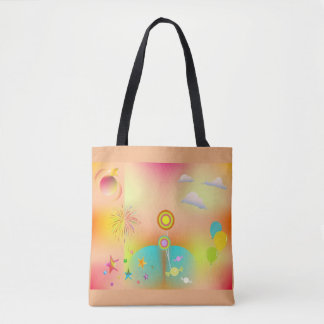 party and colors tote bag