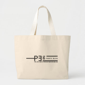 Party and Event Guide Logo W/ Slogan Jumbo Tote Bag