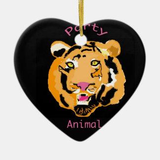 Party Animal Ceramic Heart Decoration