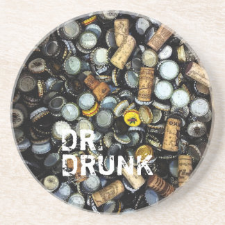 Party Animal - Dr Drunk Sandstone Coaster