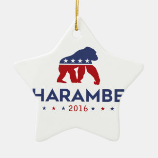 Party Animal Harambe Ceramic Ornament