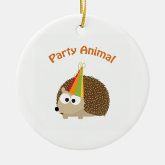 Party Animal Hedgehog Ornaments