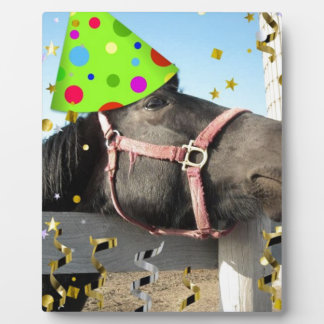 Party Animal Horse Plaque