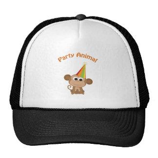 Party Animal Monkey Trucker Hats