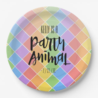 Party Animal Paper Plate