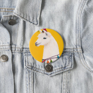 Party Animal Pin- Llama 7.5 Cm Round Badge