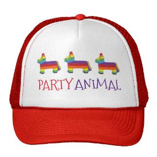 Party ANIMAL Rainbow Donkey Piñata Birthday Fiesta Cap