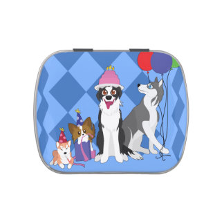Party Animals Candy Tin