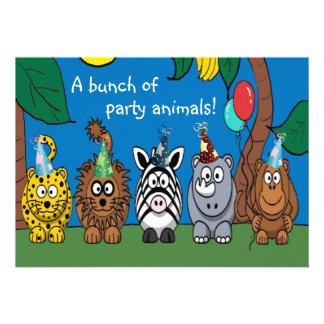 Party Animals Children s Birthday Party Invitation