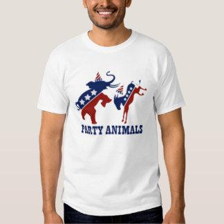 Party Animals Democrats and Republicans Tee Shirt