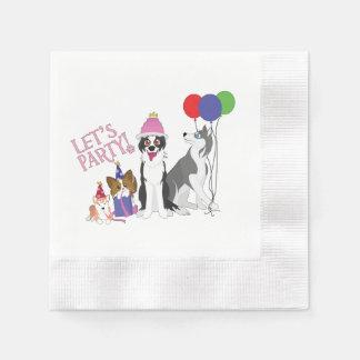 Party Animals Disposable Serviette