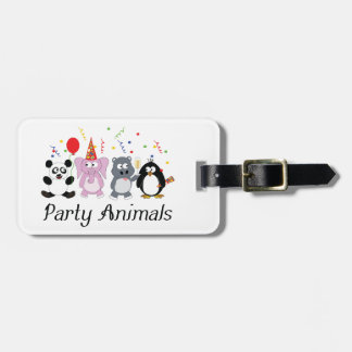 Party Animals Luggage Tag