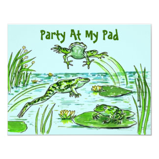 PARTY AT MY PAD LILY-PAD LEAPING FROGS  INVITATION