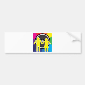 Party Background Bumper Sticker