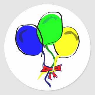 Party Ballons Classic Round Sticker