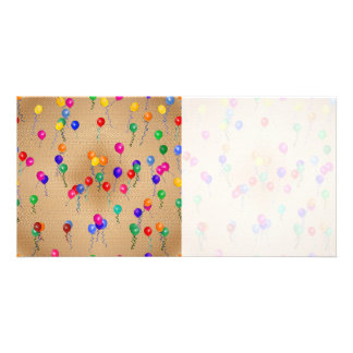 Party Ballons Personalized Photo Card