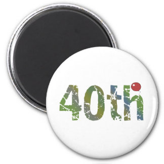 Party Balloon 40th Birthday Gifts 6 Cm Round Magnet