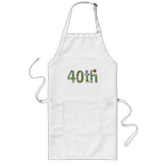 Party Balloon 40th Birthday Gifts Long Apron