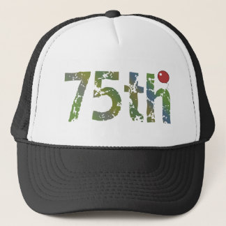 Party Balloon 75th Birthday Gifts Trucker Hat