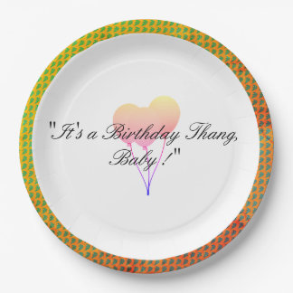 Party-Balloon-Cool-Celebration-Birthday-Supplies 9 Inch Paper Plate