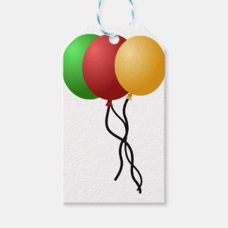 Party Balloons Gift Tags
