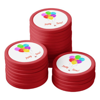 Party Balloons Poker Chips