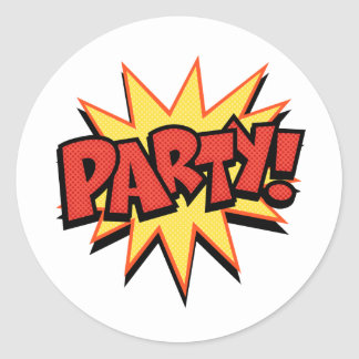 Party Bang Round Sticker
