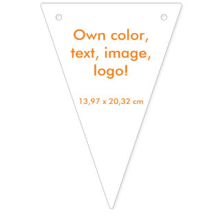 Party Banner Triangle uni White ~ Own Color
