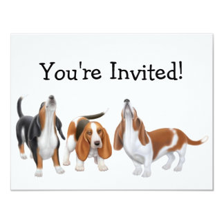 Party Bassets Invitation
