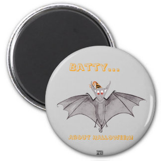 Party Bat - Batty About Halloween Magnet