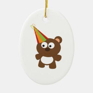 Party Bear Christmas Tree Ornament