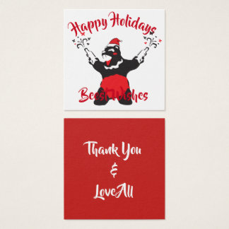 Party Bear Thank You Square Business Card