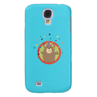 Party Bear with Spots in cirlce Q1Q Galaxy S4 Cases