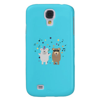 Party Bears singing Q1Q Galaxy S4 Cases