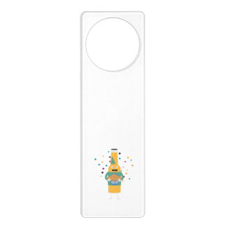 Party Beer Bottler with Cake Z4zzo Door Hanger