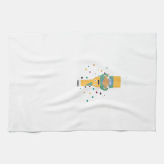 Party Beer Bottler with Cake Z4zzo Kitchen Towel