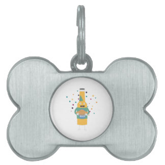 Party Beer Bottler with Cake Z4zzo Pet ID Tag