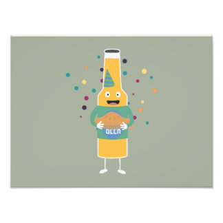 Party Beer Bottler with Cake Z4zzo Photo Print