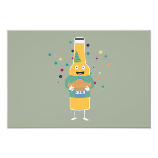Party Beer Bottler with Cake Z4zzo Photograph