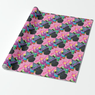 Party Black Scottish Terrier Wrapping Paper