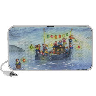 Party Boat with Children Doodle Speaker