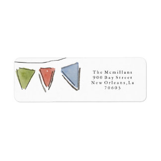 Party Bunting Return Address Labels
