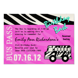 Party Bus Birthday Bash Card