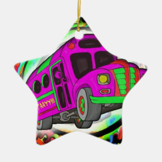 Party Bus.jpg Ceramic Ornament